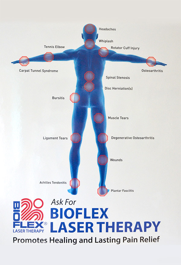 BioFlex Cold Laser Therapy formusculoskeletal problems and wound healing