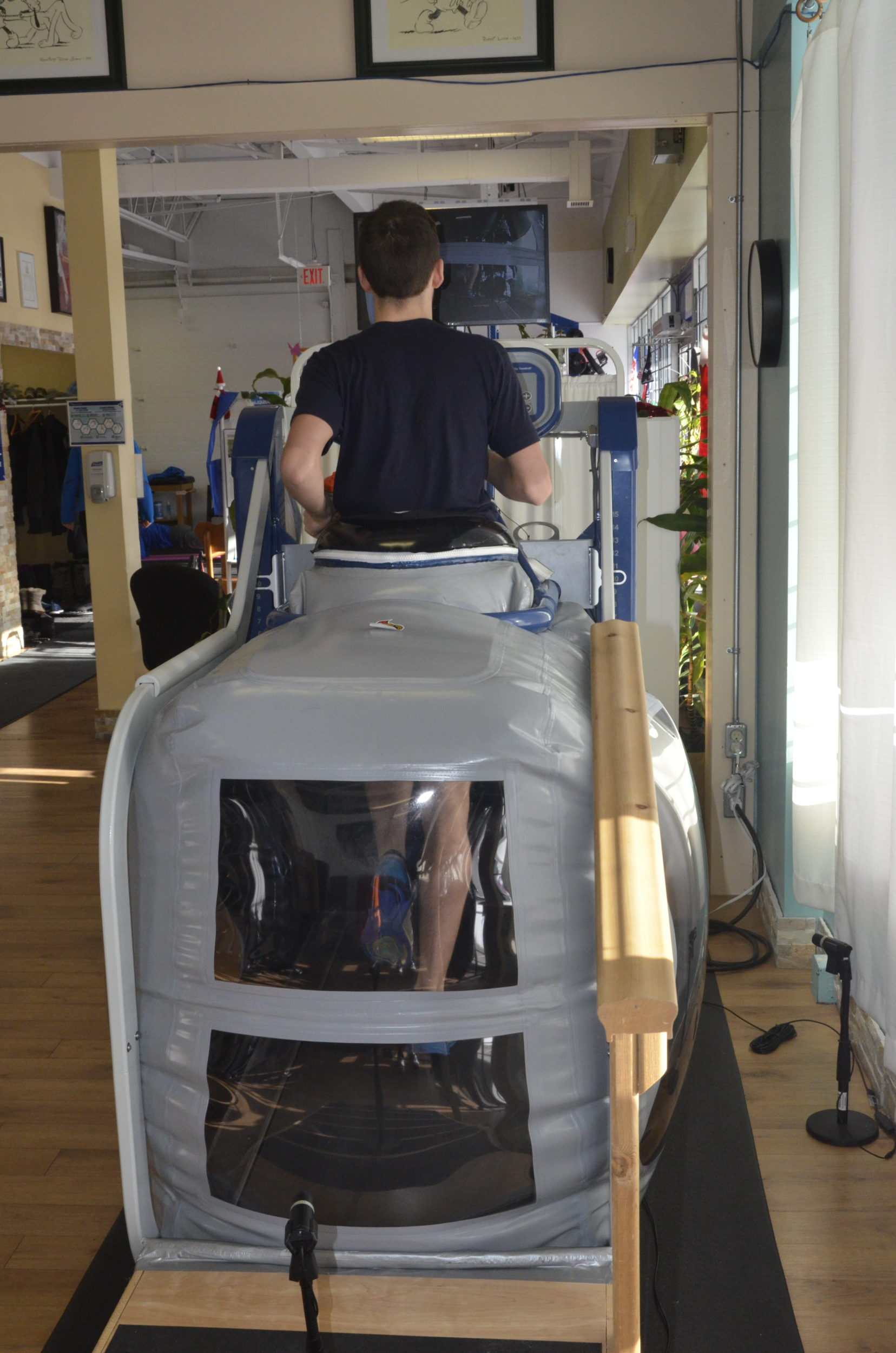 Male Walking On The AlterG